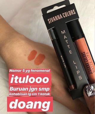 Lip Sivanna Colors MATTE Lips BEST SELLER 2in1 no5 ORI