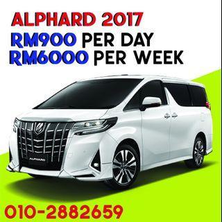 Alphard 2017 Car rental Kereta sewa