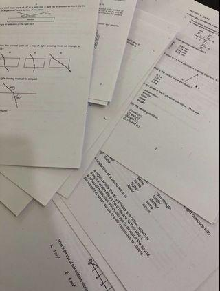 O Level Pure Physics Notes and Practices