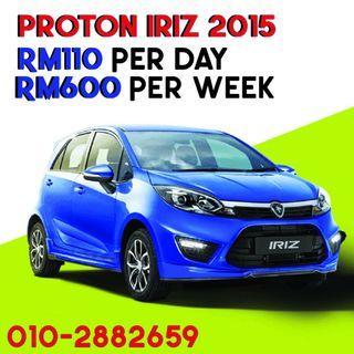 Proton Iriz Car rental kereta sewa