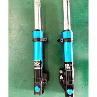 【中古】【零件】DY 避震器 KYMCO 光陽 雷霆 RACING 前 避震器 藍色 正常無漏油
