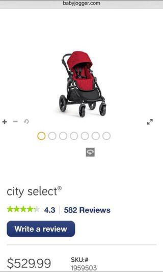 City Select Baby Jogger (red)