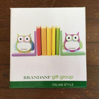 Photo frame owl bookends