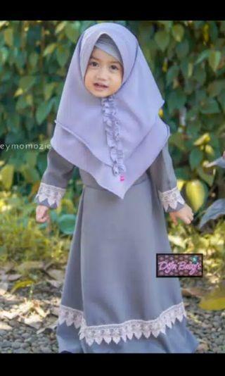 Gamis Syari anak usia 3 thn