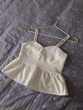 White crop cami