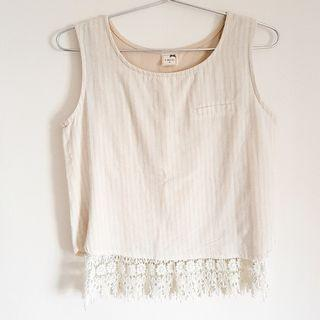 🚚 Beige lace blouse
