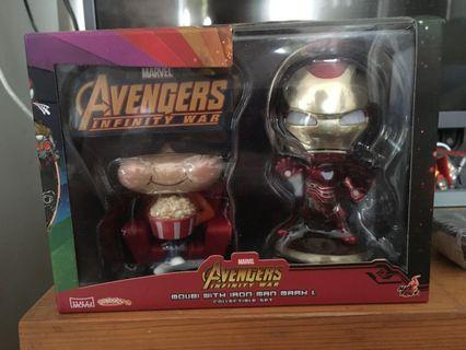 Cosbaby Avengers Infinity war moubi with Iron man MK L collectible set