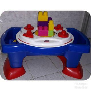 FREE POST Mega Blok 2-sided Play Table with Sounds