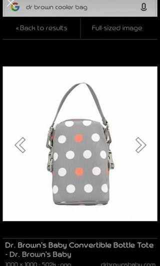 Dr Brown baby bag cooler