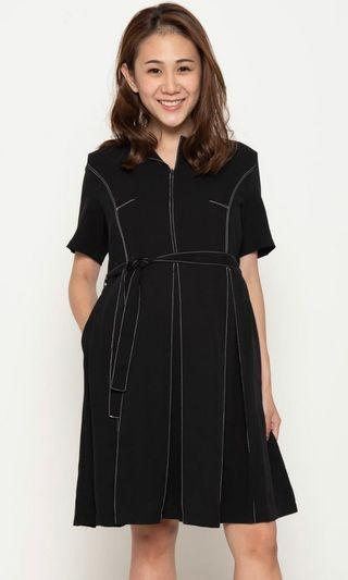 BNWT Jump Eat Cry Another Work Day Nursing Dress (Black, S)