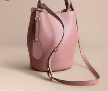 Auth Burberry bucket reversible bag