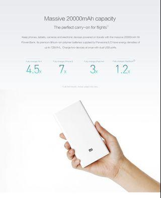 Authentic Xiaomi 20000mAh Power Bank