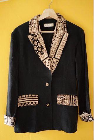 Blazer hitam resmi mewah batik