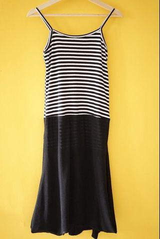 Striped dress ucansee thank top
