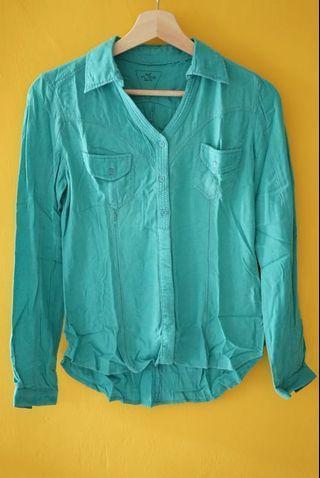 Turquoise shirt - hijau kebiruan - tosca