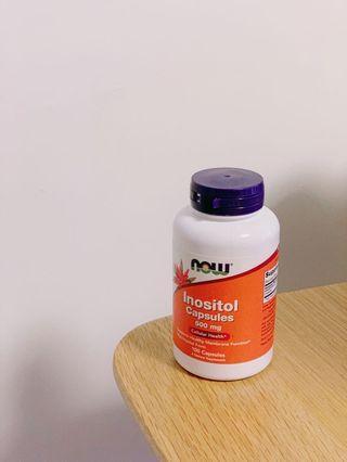 Now food Inositol Capsules 500mg 100 Capsules 肌醇
