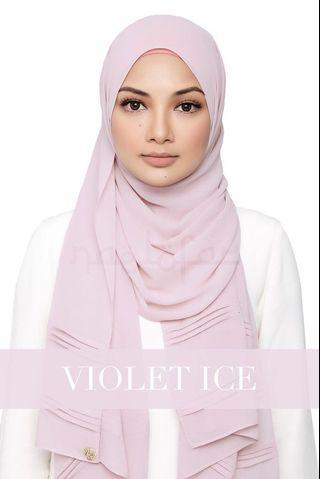 Naelofar Zehra Shawl Violet Ice