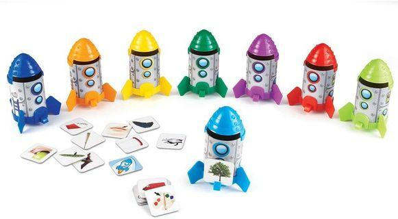 Learning Resources Rhyme & Sort Rockets Card Set