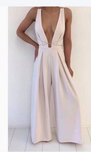 Natalie Rolt Chloe jumpsuit cream/white