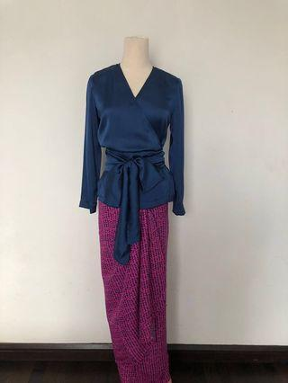 Wrap top with matching pareo set (new)