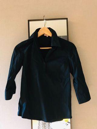 Michael Kors. Stylish black cotton shirt