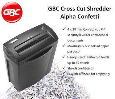 GBC Alpha Confetti Cross Cut Paper Shredder