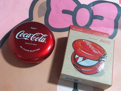 🚚 美妝樂園福利社!THE FACE SHOP控油柔膚蜜粉餅 可口可樂聯名款 韓國直送