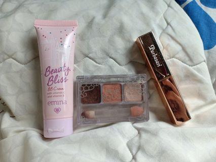 Take All BB Cream dan Eyeshadow Nude Emina + Lipstik Purbasari Special Edition, Khusus Jabodetabek 60k Gratis Ongkir