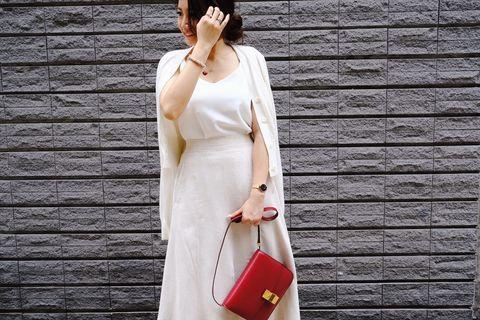 韓國開叉麻質裙