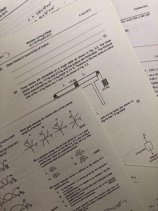 A Level H2 Physics J2 Practices