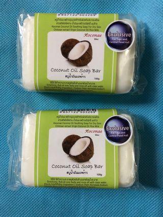 【現貨】 全新! 包郵! Koconae Coconut Oil Soap Bar 椰子油香皂 100g - 肥皂 - Thailand - 泰國 (實物圖)