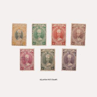 Kelantan 1937 Stamps