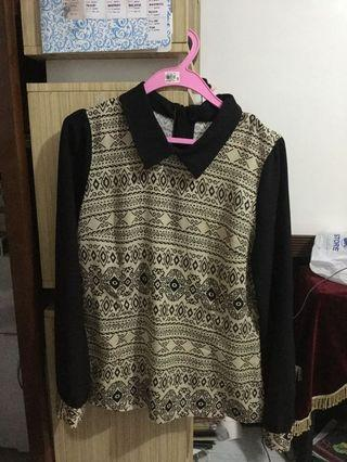 Aztec styled long sleeves