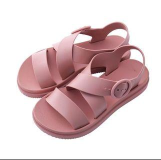 Dusty pink jelly sandals