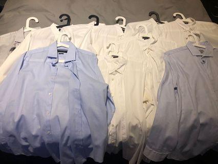 🚚 Lot of 10 Zara Slim Cut dress shirts large