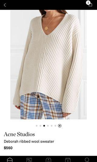 Classic Acne Wool Sweater