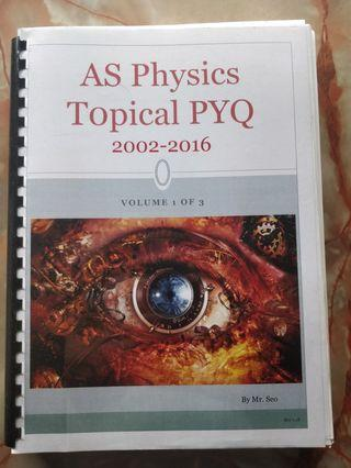 AS Physics Topical Past Year 2002-2016