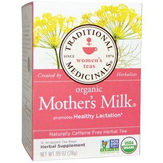 Traditional Medicinals, Women's Teas, Organic Mother's Milk, Naturally Caffeine Free, 16 / 32 Wrapped Tea Bags,