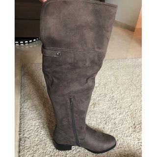 Head Over Heels (Dune London) Tullalah Grey Knee-High Boots BNIB