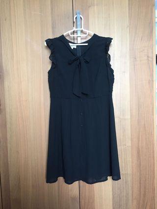 黑色雪紡連身裙 black chiffon dress