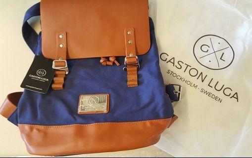 Praper Navy & Brown Backpack