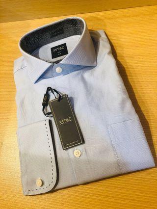 SST&C 專櫃品牌 西裝襯衫(水藍)