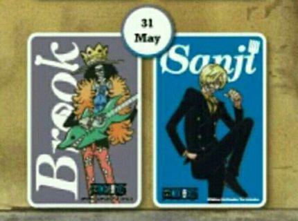 PO Brook &  Sanji One Piece Ezlink Card Limited Edition