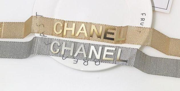 Chanel Mesh choker - gold or silver