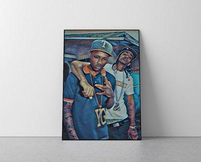 YG & Nipsey Hussle - High quality print