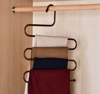 S-Shaped Metal Multiple Clothes Hanger