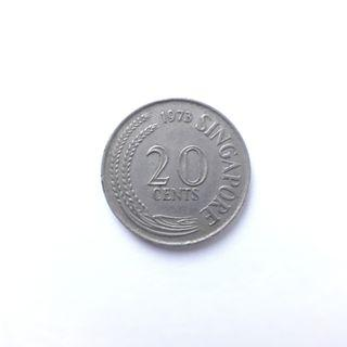 Singapore 20 cent coin