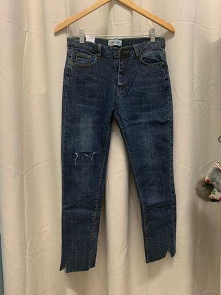 (REDUCED) Korean Ripped Skinny Jeans