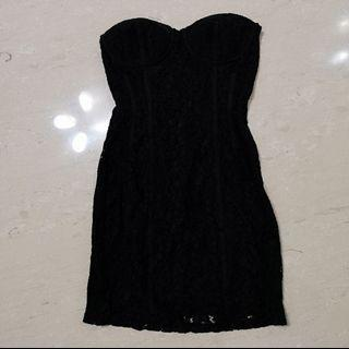 H&M Black Lace Tube Dress
