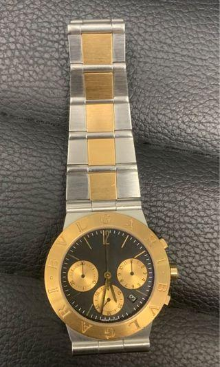 Bvlgari 18kt Yellow Gold Stainless Steel Watch